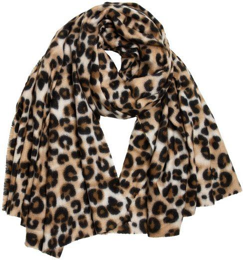 Caspar Modeschal »SC501 weicher warmer Damen XL Schal mit Leo Animal Print«