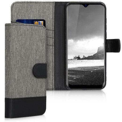 kwmobile Handyhülle, Hülle für Blackview A60 Pro (4G) - Kunstleder Handy Wallet Case mit Kartenfächern und Stand