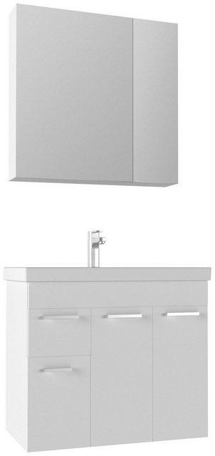 Badezimmer Sets - Badmöbel Set »Enez«, (3 tlg), Breite 80 cm, mit 2 Schubladen  - Onlineshop OTTO