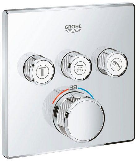 Grohe Unterputzarmatur »Grohtherm SmartControl« für Rapido SmartBox, Thermostat mit 3 Absperrventilen