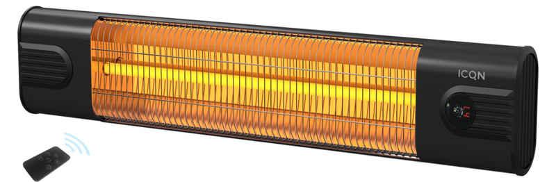 ICQN Heizstrahler, 2300 W, Kohlenstoff Heizstrahler mit Fernbedienung, 2300 W, Infarotstrahler, Infarotheizung für Innenbereich und Draussen, IP 34: Wasser- und Staubschutz, Thermal Serie ITC2500.R