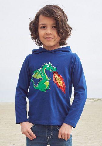 KIDSWORLD Marškinėliai su gobtuvu »mit Wendepail...