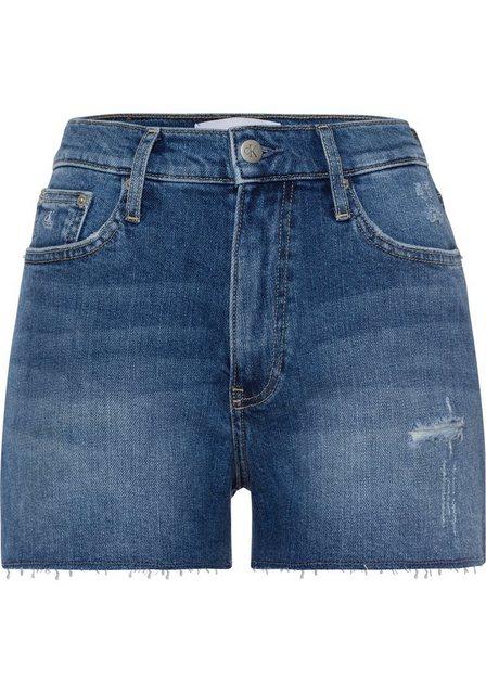 Hosen - Calvin Klein Jeans Shorts »HIGH RISE SHORT« mit coolen Destroyed Elementen ›  - Onlineshop OTTO