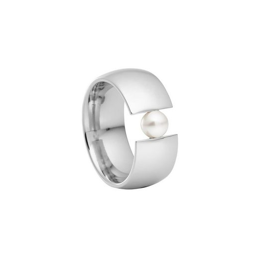 Heideman Fingerring »Globus Xl Poliert« (1-tlg), Damenring mit Perle