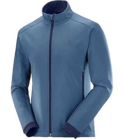 Salomon Outdoorjacke »Salomon Agile Softshell Jacke elastische Herren Jacke Multi-Sport Sport-Jacke Blau«