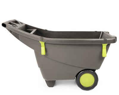 ONDIS24 Schubkarre »Ondis24 praktische extrem leichte stabile Schubkarre Gartenschubkarre 140 Liter in beige-braun aus Kunststoff sicherer Stand große Räder«, 140 liter