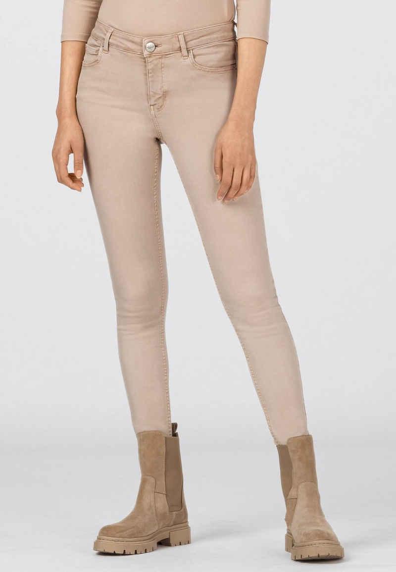 HALLHUBER Skinny-fit-Jeans »MIA mit Fransensaum«