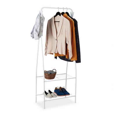 relaxdays Kleiderständer »Kleiderständer mit 2 Ablagen«