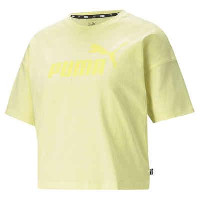 PUMA T-Shirt »Essentials Logo Cropped Damen T-Shirt«