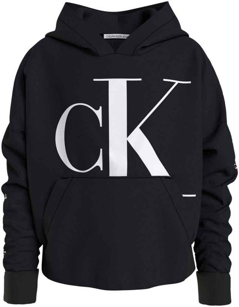 Calvin Klein Jeans Kapuzensweatshirt »MINI MONOGRAM CK HOODIE« mit großem Logodruck