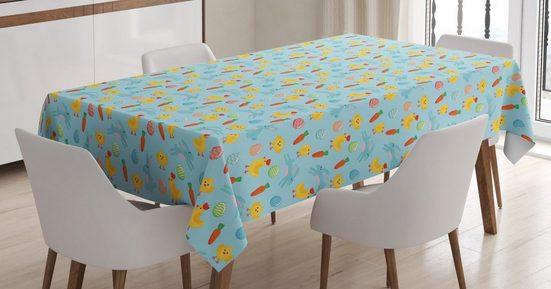 Abakuhaus Tischdecke »Personalisiert Farbfest Waschbar Für den Außen Bereich geeignet Klare Farben«, Ostern Eier Küken Hühner Kaninchen