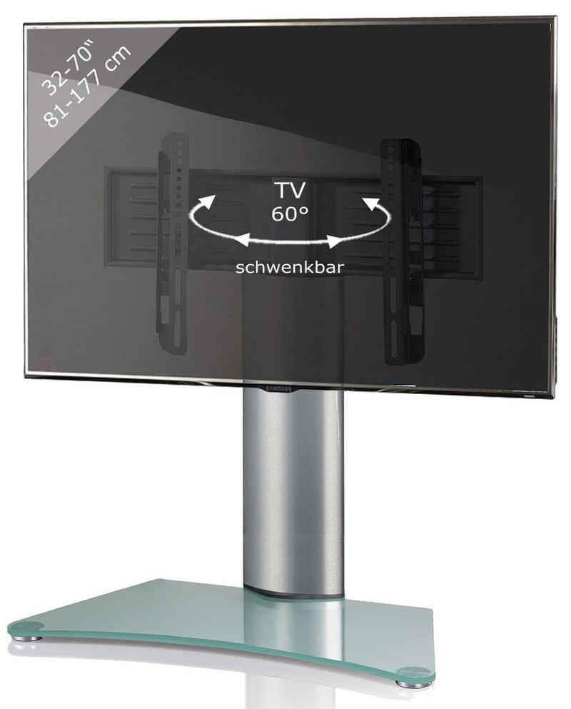 VCM »TV Standfuß Aufsatz Alu Glas Windoxa Maxi« TV-Ständer