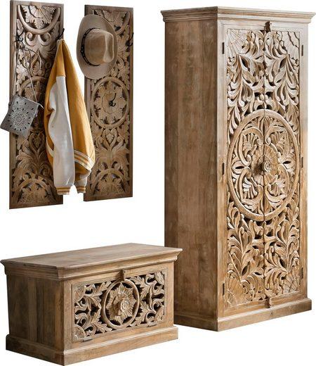 SIT Garderoben-Set »Lakadee«, (4-St), aus Mango Holz