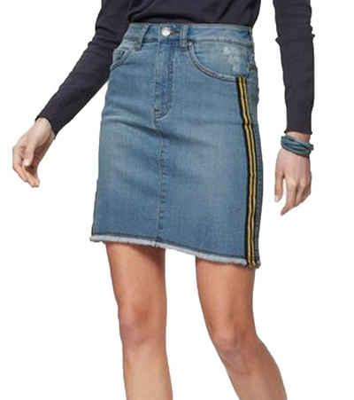 KangaROOS Jeansrock »KangaROOS Jeans-Rock stylischer Damen Denim-Rock Mode-Rock mit seitlichen Sportstreifen Blau«