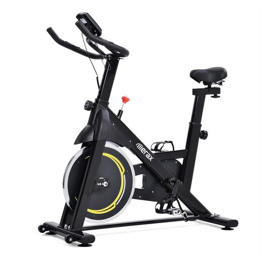 KIKAKO Fitnessbike »Indoor Cycling Bike mit 8KG Schwungrad, Magnetriemenantrieb Heimtrainer für Heimgymnastik, Schwarz und Blau / Gelb«
