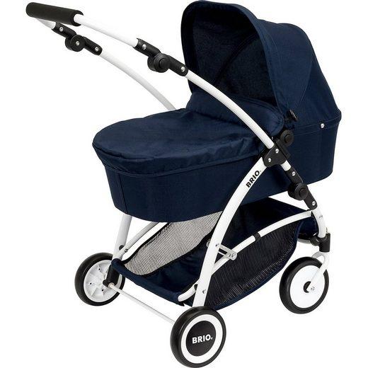 BRIO® Puppenwagen »Puppenwagen Spin blau mit Schwenkrädern«