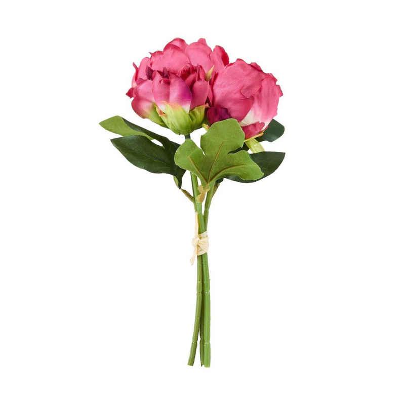 Kunstblume »FLORISTA Pfingstrosen Sträußchen«, BUTLERS, Höhe 25 cm