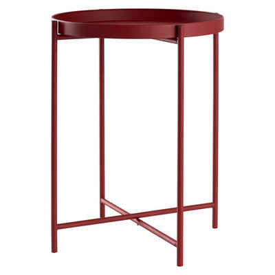 DAY - USEFUL EVERYDAY Tabletttisch »Beistelltisch rund Ø38xH50cm Metall rot«