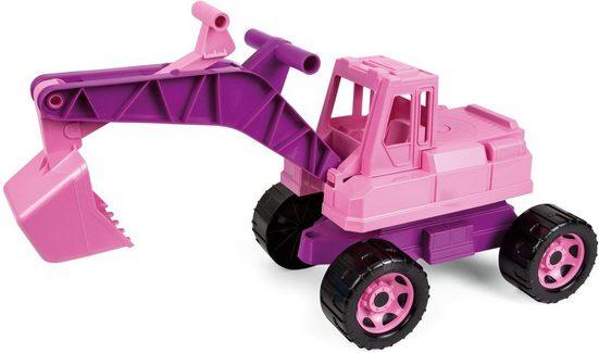 Lena® Spielzeug-Aufsitzbagger »Giga Trucks, rosa«, Made in Europe