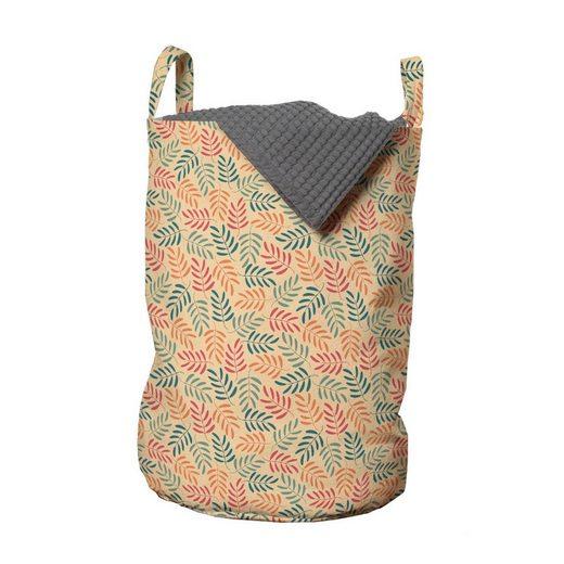 Abakuhaus Wäschesack »Wäschekorb mit Griffen Kordelzugverschluss für Waschsalons«, Botanisch Pastell bunte Blätter
