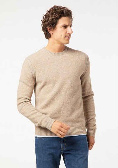 Pierre Cardin Herren Chambray Shirt V Ausschnitt Strickpullover Pullover Langarm