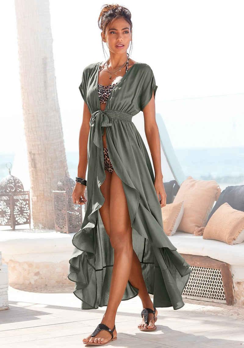 LASCANA Strandkleid mit Bändern zum Knoten