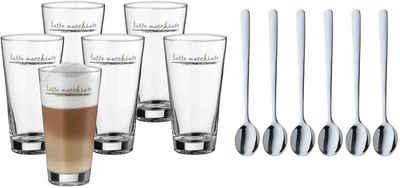 WMF Gläser-Set »Clever&More«, Glas, Cromargan® Edelstahl Rostfrei 18/10, Glas stapelbar, 12-teilig
