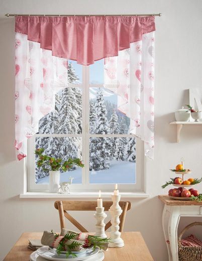 Scheibengardine »Jule«, my home, Kräuselband (1 Stück), Weihnachtsgardinen