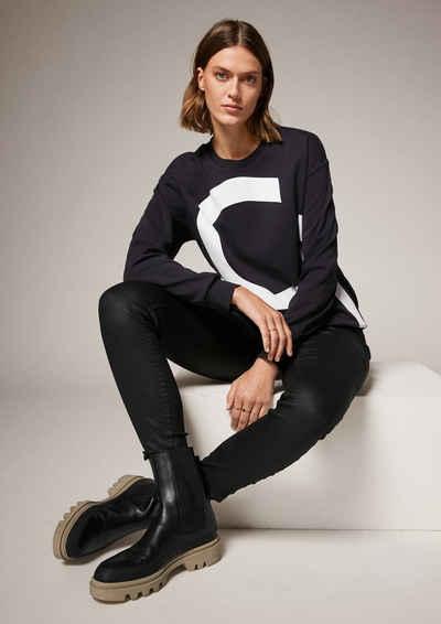 comma casual identity Sweatshirt »Sweatpulli mit Frontprint« (1-tlg)