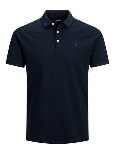 Jack & Jones Poloshirt »3613« Herren Polo Shirt Kurzarm Uni Hemd JJEPAULOS Pique Baumwolle