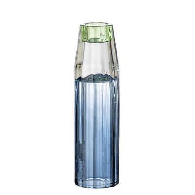 Bloomingville Kerzenhalter »Bloomingville Kerzenhalter / Vase Glas Blau 17,5 cm«