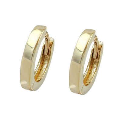 Gallay Paar Creolen »Ohrringe 12x2mm Klappscharnier glänzend 9Kt GOLD« (inkl. Schmuckbox), Goldschmuck für Damen und Herren