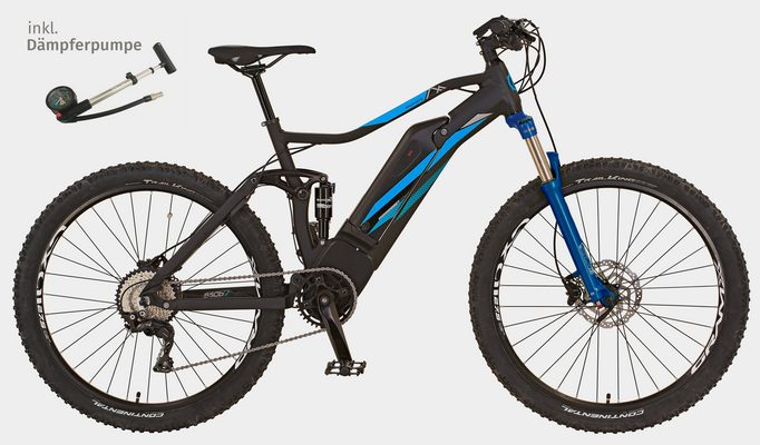 E-Bike »GRAVELER E-MTB«, 10 Gang SHIMANO Deore XT Schaltwerk, Kettenschaltung, Mittelmotor 250 W, (Set), inkl. Dämpferpumpe