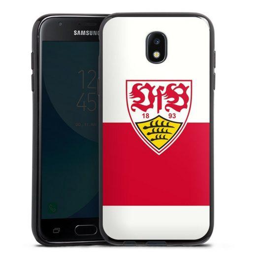 DeinDesign Handyhülle »VfB Stuttgart Brustring« Samsung Galaxy J3 Duos (2017), Hülle VfB Stuttgart Offizielles Lizenzprodukt Logo