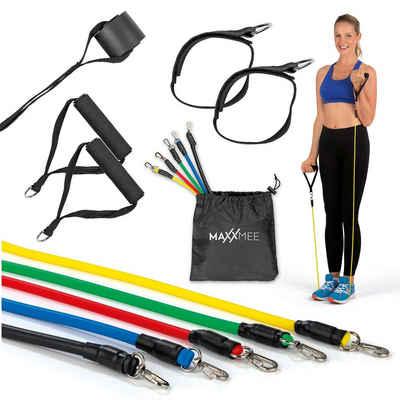 MAXXMEE Fitnessband »MAXXMEE Trainings-Set Fitness-Bänder - 11-tlg. Set - mehrfarbig«, Trainings-Set Fitnessbänder 11-teilig