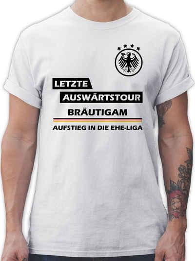 Shirtracer T-Shirt »Letzte Auswärtstour Bräutigam - JGA Junggesellenabschied Männer - Herren Premium T-Shirt«