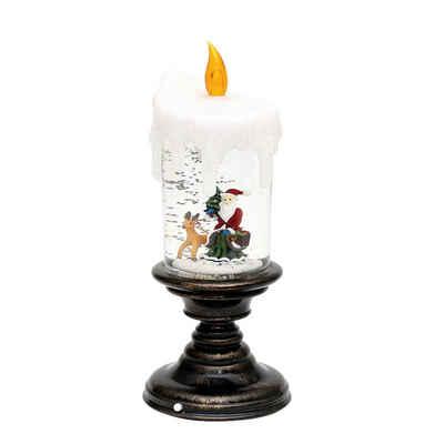 SIGRO LED-Kerze »LED Kerze auf Fuß mit Santa«