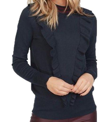 KAFFE Strickpullover »KAFFE Alba Herbst-Pulli zeitloser Damen Feinstrick-Pullover mit kleinem Stehkragen Freizeit-Pullover Dunkelblau«