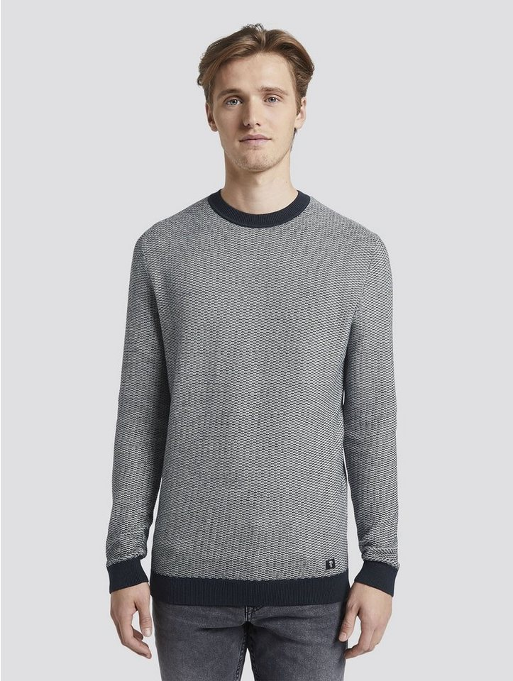 tom tailor denim -  Strickpullover »Pullover in Jacquard Optik«