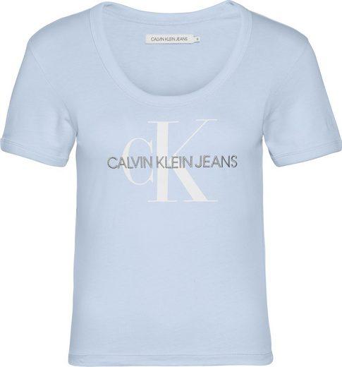 Calvin Klein Jeans T-Shirt »VEGETABLE DYE MONOGRAM BABY TEE« mit Calvin Klein Jeans Schriftzug & CK Logo-Print