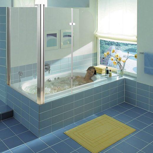 Mucola Badewannenaufsatz »Eck Glas Duschabtrennung Badewannenaufsatz Badewannenfaltwand Duschkabine Dusche«