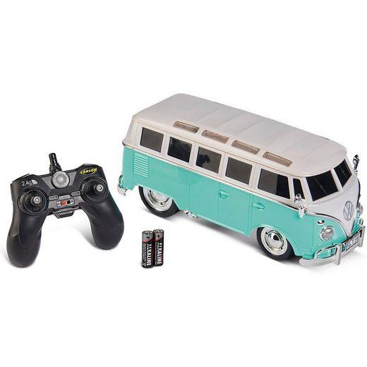 CARSON Spielzeug-Auto »1:14 VWT1 Samba Bus 2.4G 100% RTR türkis«