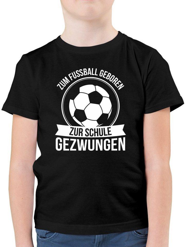 shirtracer tshirt »zum fußball geboren zur schule