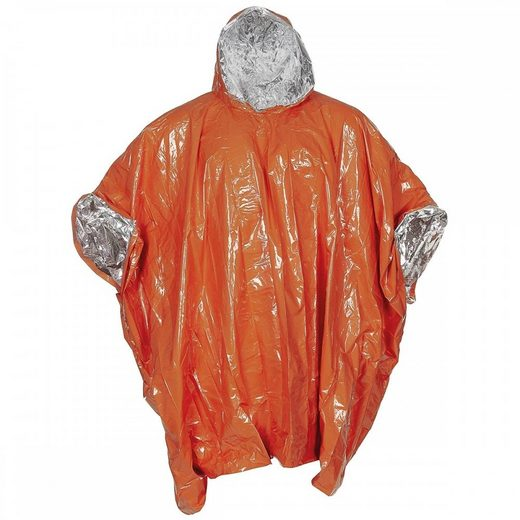 FoxOutdoor Regenponcho »Notfall-Poncho, orange, einseitig alubeschichtet« einseitig alubeschichtet