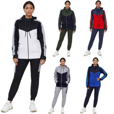 John Kayna Jogginganzug »Damen Jogginganzug, Streetwear, Fitness, Sportanzug, Jogging-Anzug, Trainings-Anzug, Jogging-Hose« (2-tlg), Unisex