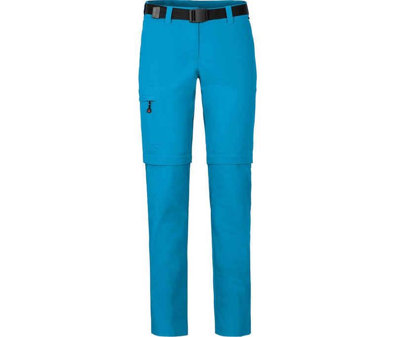 Bergson Zip-off-Hose »BENNETT Zipp-Off (slim)« Damen Wanderhose, vielseitig, pflegeleicht, Normalgrößen, Ozean blau