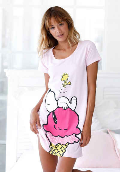 Peanuts Sleepshirt mit großem Snoopy-Motiv