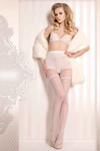 Ballerina Feinstrumpfhose »Strumpfhose weiß-silber 20 den transparent elastis« (1 Stück)