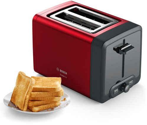 BOSCH Toaster TAT4P424 DesignLine, 2 kurze Schlitze, 970 W
