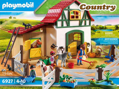 Playmobil® Konstruktions-Spielset »Ponyhof (6927), Country«, (194 St), Made in Germany